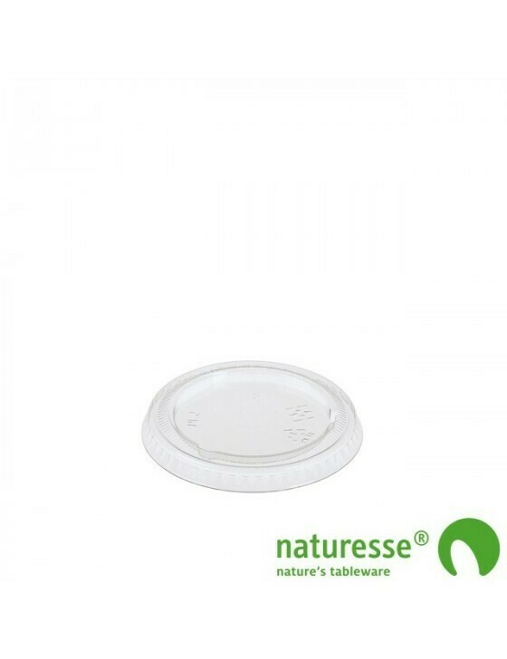 PLA deksel voor sausbakje 30-60ml, verpakt per 2000 stuks