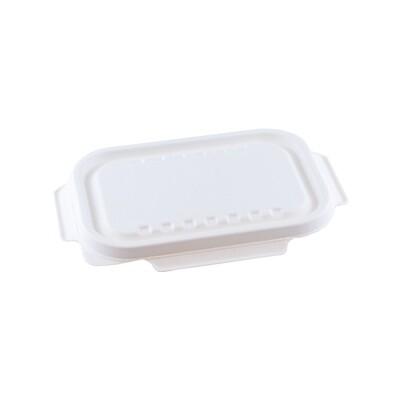 Bagasse deksel wit voor maaltijdbak 850ml/1000ml, verpakt per 125 stuks