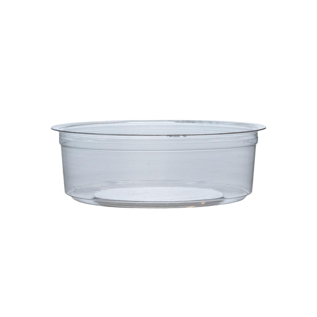 PLA container 8oz/240ml/11,5cm Ø x 4cm hoog, verpakt per 500 stuks