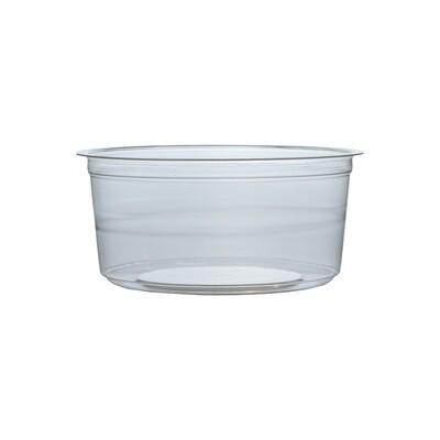 PLA container 12oz/360ml/11,5cm Ø x 5cm hoog, verpakt per 50 stuks