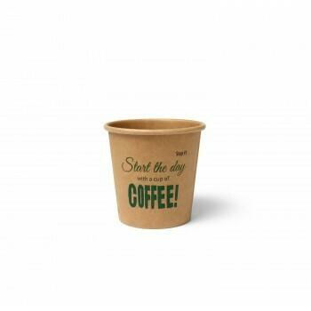 Koffiebeker (Silly Times) karton   118ml/4oz, verpakt per 1000 stuks.