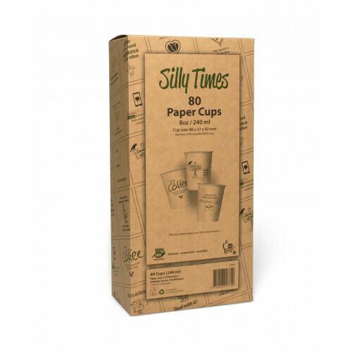 Koffiebeker (Silly Times) karton | 237ml/8oz, 6 displaydozen met 80 stuks in een omdoos