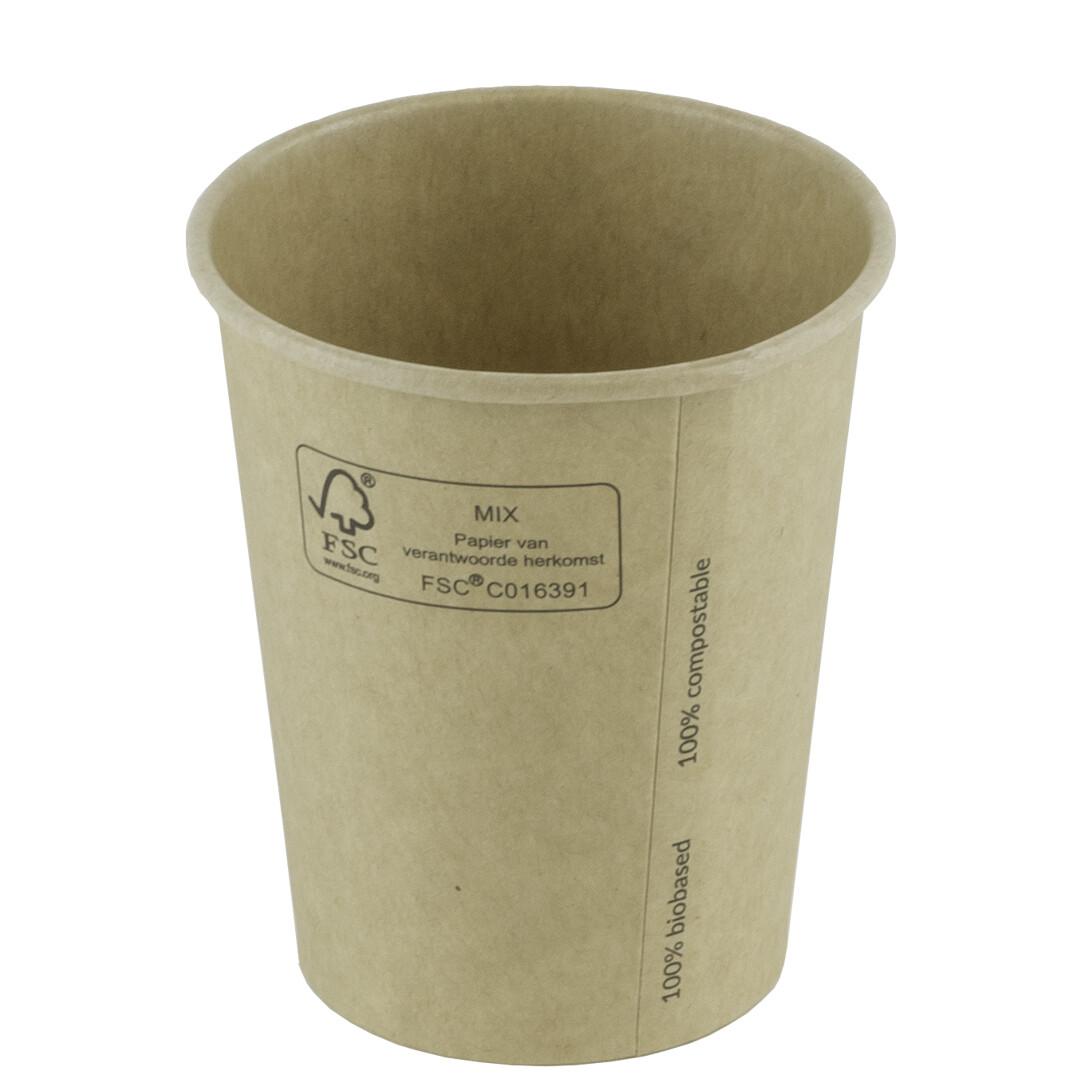 Milkshakebeker bamboepapier/PLA 16oz/480ml Ø 90mm, verpakt per 1000 stuks
