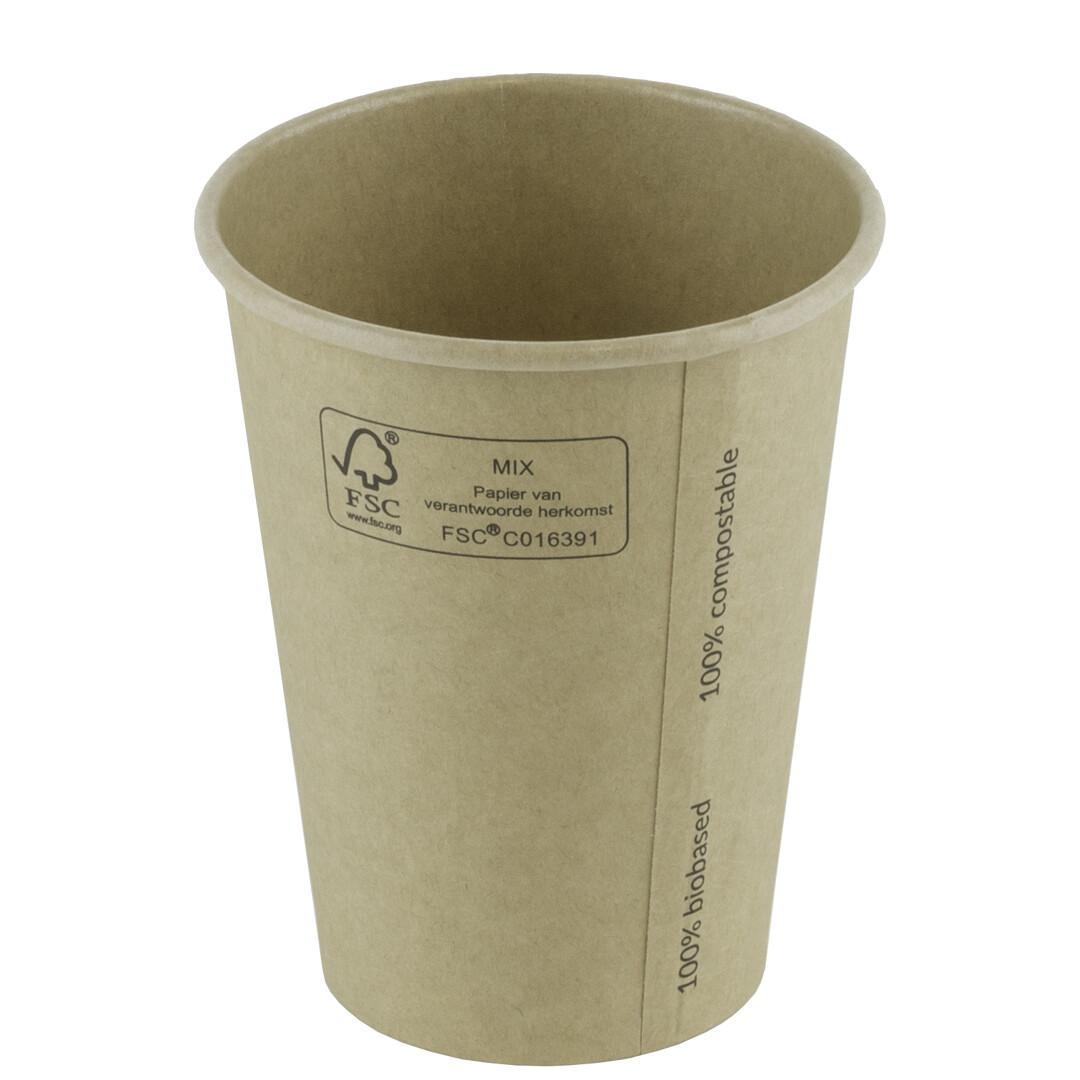 Milkshakebeker bamboepapier/PLA 22oz/660ml Ø 90mm, verpakt per 1000 stuks