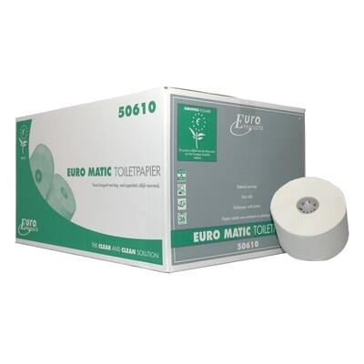 P50610 Euro recycled tissue met dop, doos met 36 rollen