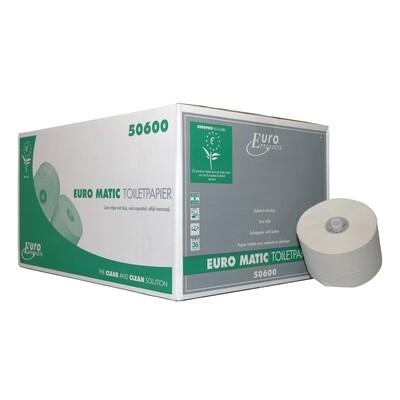 P50600 Euro recycled tissue met dop, doos met 36 rollen