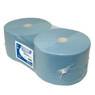 100623 Euro blauw cellulose verlijmd industriepapier, verpakt per 2 rollen