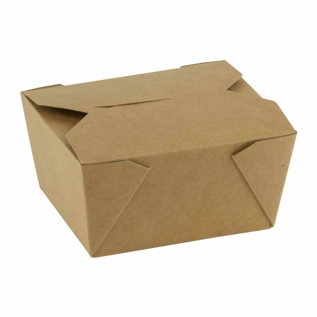 FSC® kraft/PLA take away box 750ml/110x90x63mm, verpakt per 450 stuks