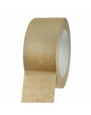 Papiertape 50/50 Bruin, 120my zelfklevend, verpakt per 6 rollen