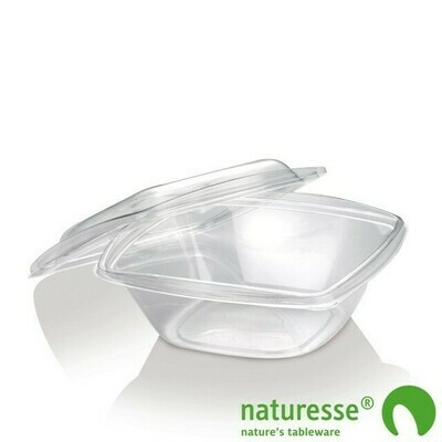 PLA saladebakje + deksel transparant 960ml, verpakt per 300 stuks