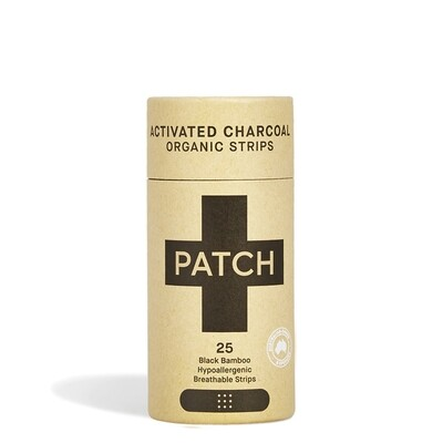 Patch pleisters Activated Charcoal Bamboe, hypoallergeen, 25 stuks