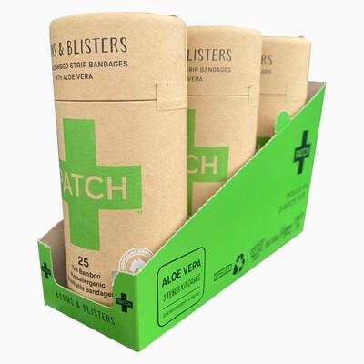Patch pleisters Aloe Vera Bamboe, hypoallergeen, verpakt per 3x25 stuks in SRP doosje