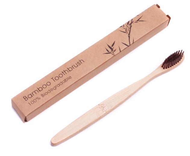 """Bamboe tandenborstel """"Natural"""""""