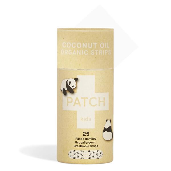 Patch Pleisters Panda Bamboe, Coconut Oil, hypoallergeen, verpakt per 25 stuks