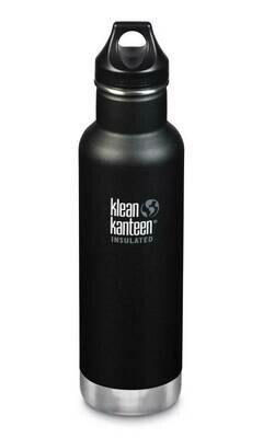 Klean Kanteen Classic drinkfles, loop cap 18oz/ 532ml, zwart