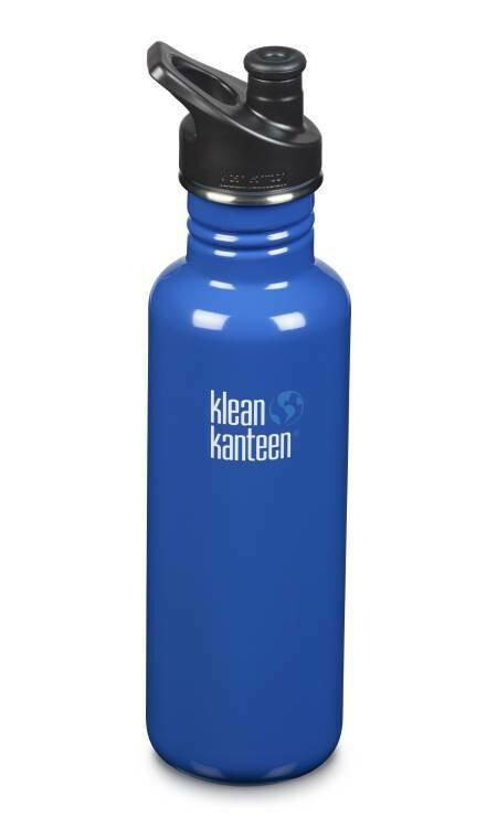 Klean Kanteen Classic drinkfles, sport cap, 27oz/800ml, blauw, verpakt per stuk