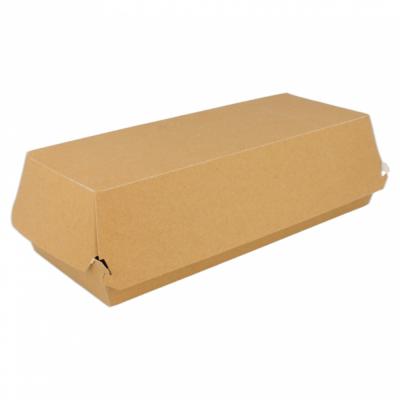 Panini/Baguette box kraft, 26x12x7cm, verpakt per 50 stuks