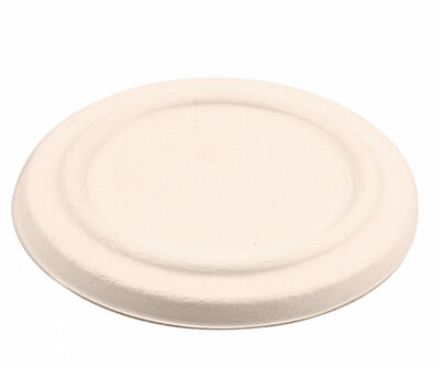 Deksels voor Bagasse bekers 'BIONIC' 360ml Ø 11,6x6,3cm, verpakt per 500 stuks