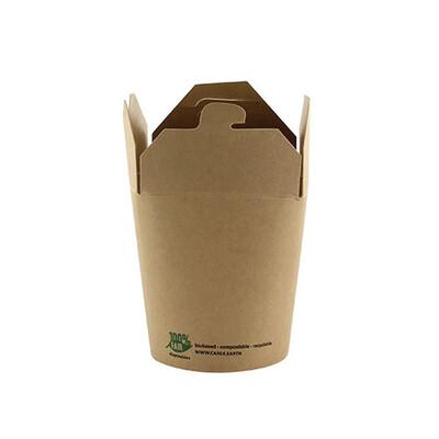 Noodlebox 8oz (100% FAIR) | 230 ml 5,8 cm x 6,5 cm x 7,5 cm, verpakt per 500 stuks