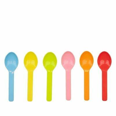 PLA tutti frutti ijslepeltjes 8cm kleurenmix, 100 stuks