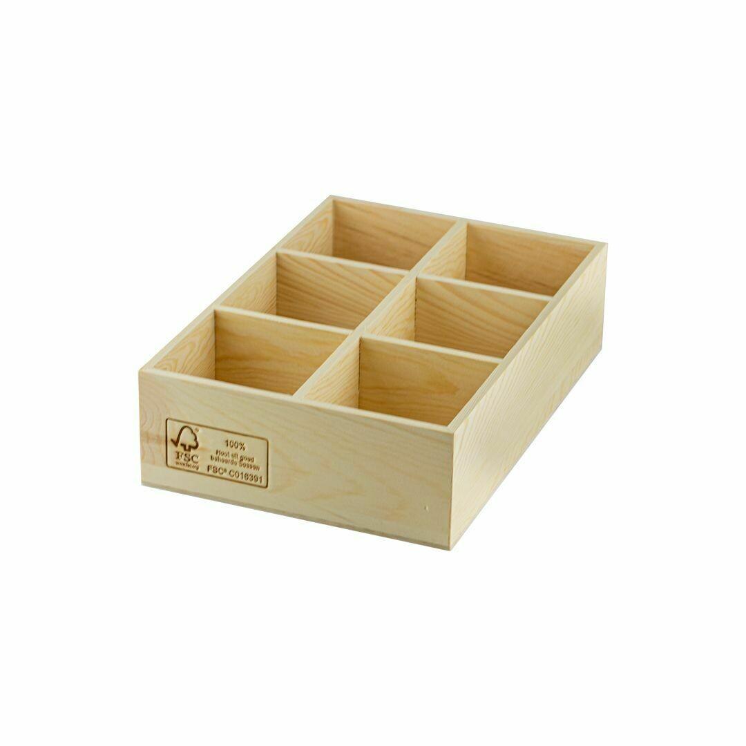FSC® houten tafeldispenser 26,4x17,8x7cm, verpakt per 12 stuks
