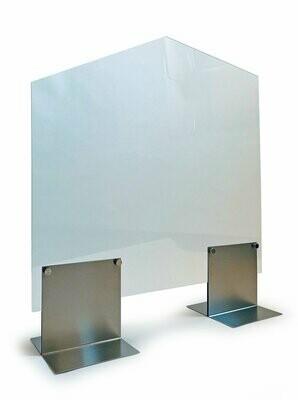 Hygiëne afschermingswand groot met doorgeefruimte, HTW12, verpakt per stuk.
