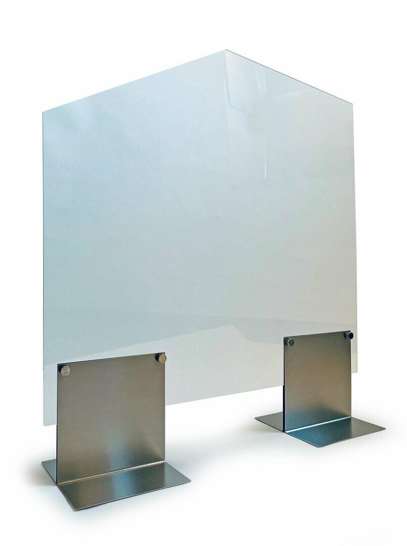 Hygiëne afschermingswand klein, met doorgeefruimte HTW16, verpakt per stuk.