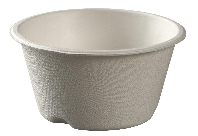 Bagasse bekers wit, 180ml met biolaminaat Ø 9x5cm, verpakt per 300 stuks
