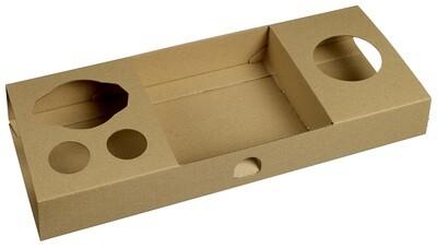 Kartonnen snackrack 460x160x50mm, verpakt per 50 stuks