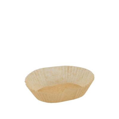 Bakpapier bruin, voor bakvorm 200ml, verpakt per 50 stuks