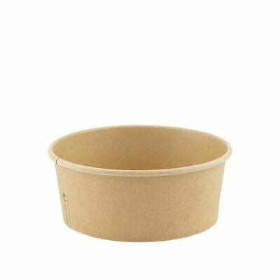 Kraft/PLA saladebowl 480ml/15cmØ x 4,5cm, verpakt per 300 stuks