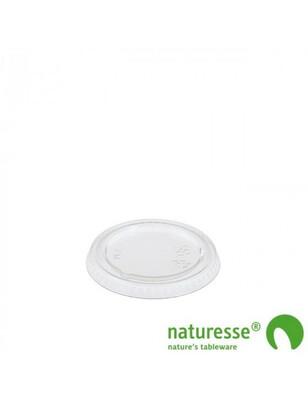 PLA deksel voor sausbakje 30-60ml, verpakt per  50 stuks