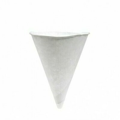 Papieren cones/puntbekers 120cc/4.5oz, verpakt per 5000 stuks