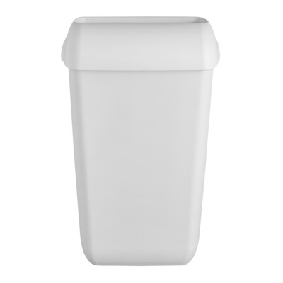 Afvalbak kunststof mat wit 23L, verpakt per stuk
