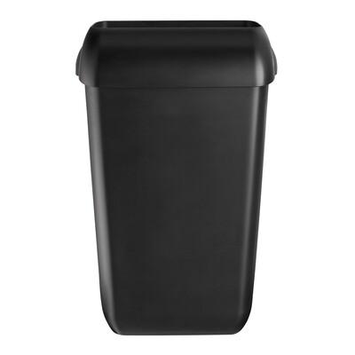Afvalbak kunststof mat zwart 23L, verpakt per stuk
