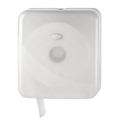 Euro Pearl White jumbo maxi toiletrolhouder