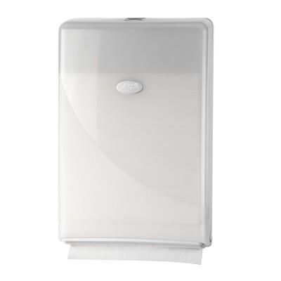 Euro Pearl White vouwhanddoekdispenser compact