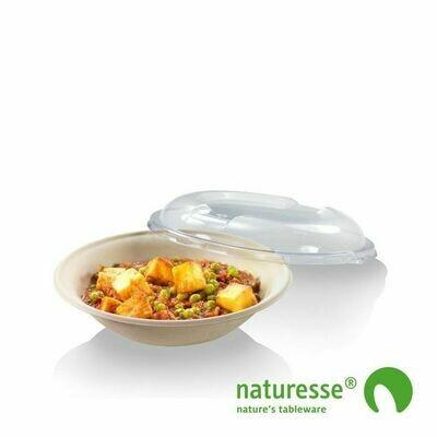 Bagasse bowl 600ml/21cm Ø/4,5cm hoog, verpakt per 500 stuks