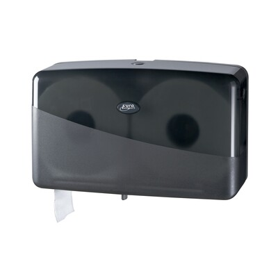 Euro Pearl Black jumbo duo-mini toiletrolhouder
