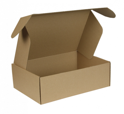 Postdoos met klepsluiting 31x21,5x10cm, verpakt per 50 stuks