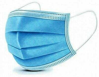 Niet medische mondmaskers, 3-laags, verpakt per 50 stuks