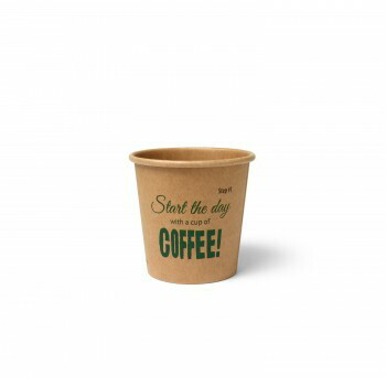Koffiebeker (Silly Times) karton   118ml/4oz, verpakt per 50 stuks.