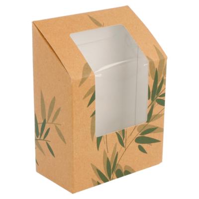 Kraft tortilla/wrap box met venster