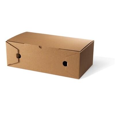 Kraft calzone doos 30x16x10cm onbedrukt, verpakt per 100 stuks