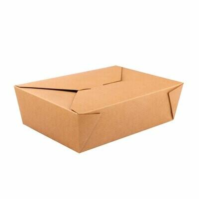 No.1 Natural kraft takeaway box 650ml, verpakt per 450 stuks
