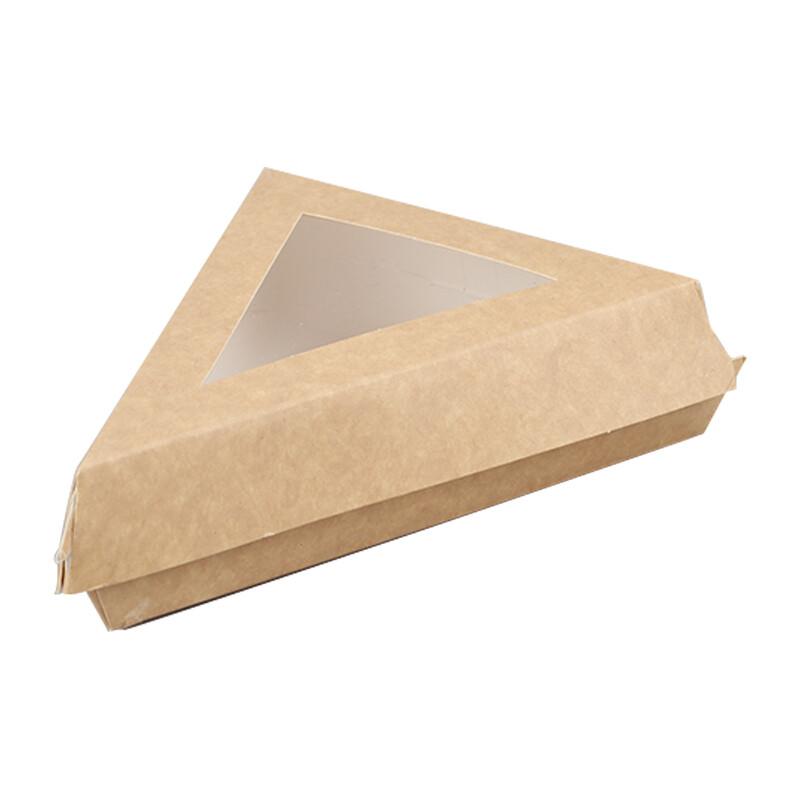 Triangeldoosje met PLA venster, 17x17x13cm, verpakt per 300 stuks