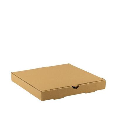 Kraft pizzadoos 26x26x4cm, verpakt per 100 stuks