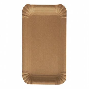 Kartonnen schaaltje Nature Kraft bruin 10x16cm, verpakt per 250 stuks