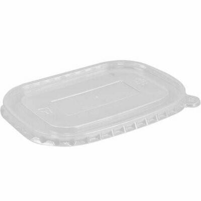 Deksel, PP voor maaltijdbak kraftpapier, 173x120x4mm transparant verpakt per 300 stuks