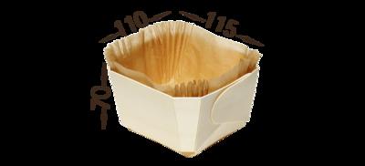 Bakvorm+ bakpapier.